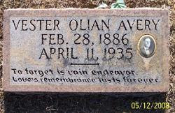 Vester Olian Avery