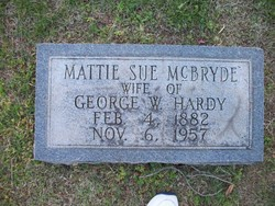 Mattie Sue <i>McBryde</i> Hardy