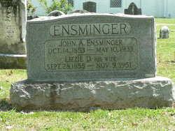 Lizzie D. <i>Miller</i> Ensminger