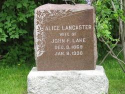 Alice <i>Lancaster</i> Lake