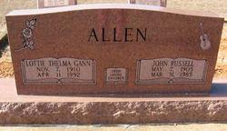 Lottie Thelma <i>Gann</i> Allen