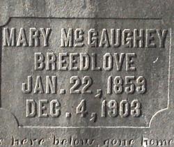 Mary Ann <i>McGaughey</i> Breedlove
