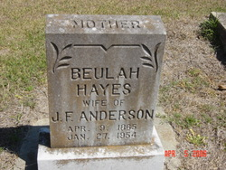 Beulah <i>Hayes</i> Anderson