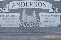 Anna Aunt Anna <i>Johansen</i> Anderson