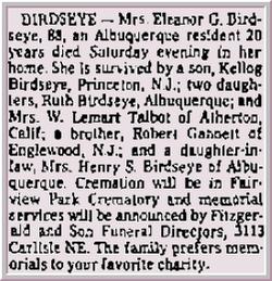 Eleanor <i>Gannett</i> Birdseye