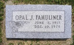 Opal J Famuliner
