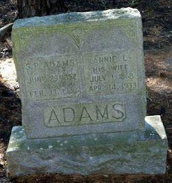 Annie Laura <i>Gibson</i> Adams