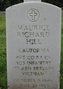 Pvt Maurice Richard Hill