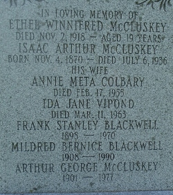 Mildred Bernice <i>McCluskey</i> Blackwell