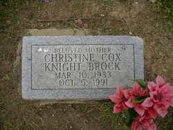 Christine <i>Cox Knight</i> Brock