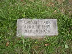 Sarah <i>Fuller</i> Rabs