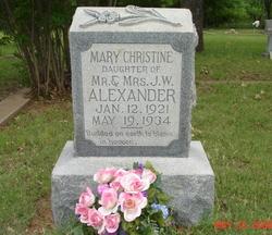 Mary Christine Alexander