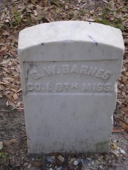 Sgt G. W. Barnes