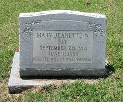 Mary Jeanette <i>Williams</i> Fly