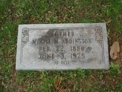 Myrtle Martha <i>Hesley</i> Addington