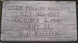 Lillie B <i>Pinson</i> Whitten