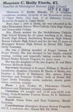Maureen C <i>Reilly</i> Eberle