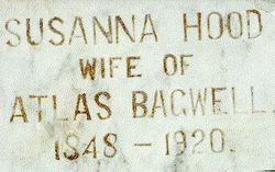 Susanna <i>Hood</i> Bagwell