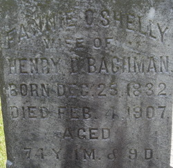 Frances Ober Fanny <i>Shelly</i> Bachman