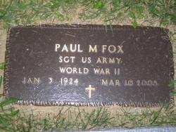 Sgt Paul Marion Fox