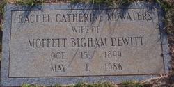 Rachel Catherine <i>McWatters</i> DeWitt