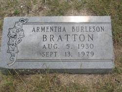 Armentha <i>Burleson</i> Bratton