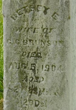 Elizabeth E. Betsey <i>Whittaker</i> Brunson