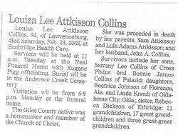 Louiza Lee <i>Adkisson</i> Collins