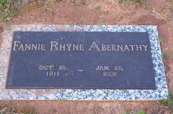 Fannie <i>Rhyne</i> Abernathy