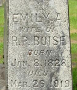 Emily A <i>Pratt</i> Boise