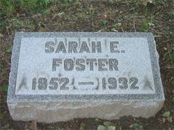 Sarah E <i>Cisco</i> Foster