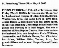 Patricia Gayl <i>Sitler</i> Flynn
