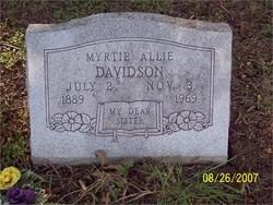 Myrtie Allie <i>Marriott</i> Davidson