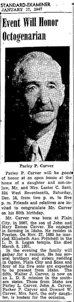 Parley Pratt Carver