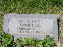 Annie Wallace <i>Hooe</i> McMichael