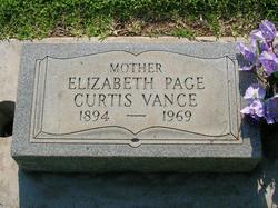 Elizabeth Page <i>Curtis</i> Vance