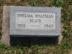 Thelma F. <i>Boatman</i> Blair