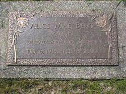 Alice Mae <i>Foster</i> Bent