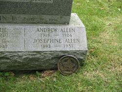 Josephine Mary Elizabeth <i>Taxter</i> Allan