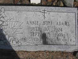 Annie <i>Hoff</i> Adams