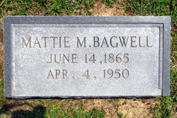 Mattie Julia <i>Morris</i> Bagwell