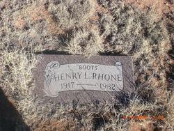 Henry L <i>Boots</i> Rhone