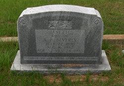 Pattie Janette <i>Lisenbe</i> Beverly