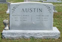 Martha E <i>Nance</i> Austin