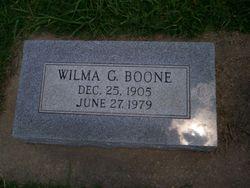 Wilma Gladys <i>Reeves</i> Boone