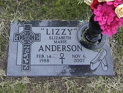 Elizabeth Marie Lizzie Anderson
