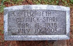 Elizabeth Lizza <i>Dimmick</i> Starr