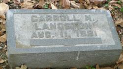 Carroll Napier Langston, Sr