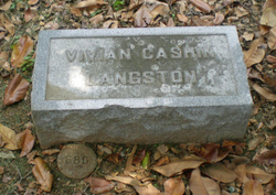 Minnie Vivian <i>Cashin</i> Langston