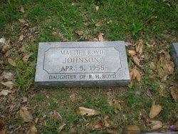 Mattie <i>Boyd</i> Johnson